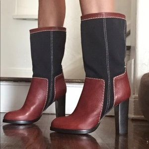 Chloe half calf leather boots 10, 9